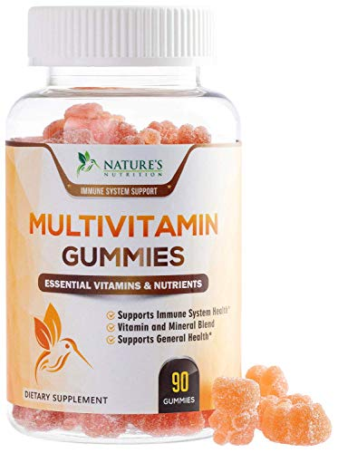 Adult Multivitamin Gummies Extra Strength Immune Support - Natural Complete Daily Gummy Vitamin Supplement - Vegetarian Multi with Vitamins A, C, E, B6, B12 for Men and Women, Non-GMO