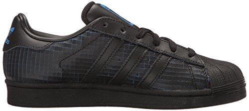 Adidas Originali Mens Superstar Moda Sneaker Cblack, Cblack, Blubir