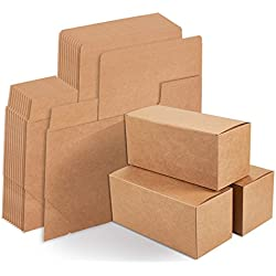 Kraft Gift Boxes - 12-Pack Rectangle Gift Wrapping Brown Paper Boxes with Lids, Kraft Boxes for Party Supplies, Cupcake Containers, Wedding Favors, 9 x 4 x 4 inches