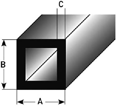 20 x 20 x 2 mm en aluminium 2 m/ètres Tube carr/é Profil/é de montage