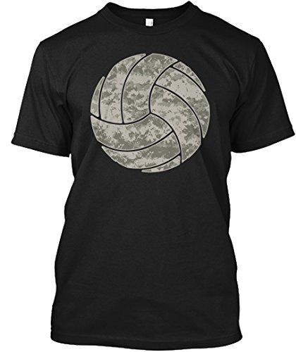 Digital Grey camo Volleyball 4XL - Black Tshirt - Hanes Tagless Tee