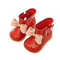 FXNN Rain Boots - Waterproof rain Boots Jelly Shoes Bow rain Boots