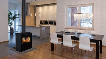Amazon Com Supreme Fireplaces Vision See Thru Wood Burning Stove In