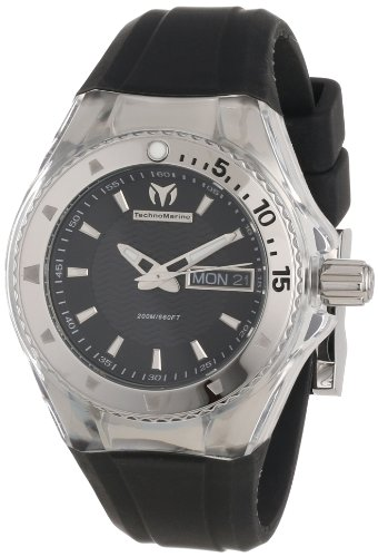 TechnoMarine Women's 110036 Cruise Original 3 Hands Black Dial Watch