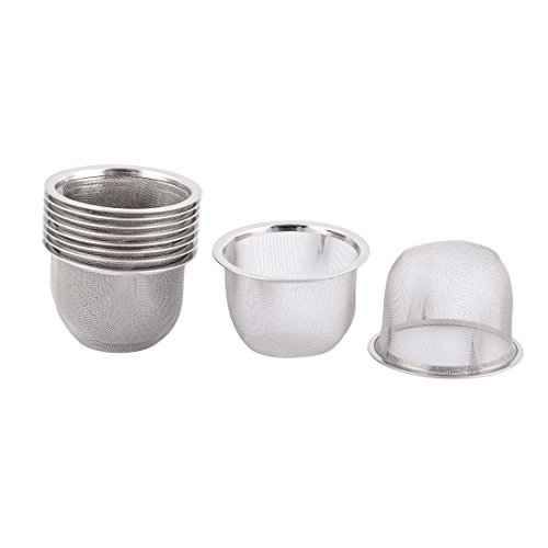 uxcell Stainless Steel Round Mesh Reusable Tea Leaf Spice Teapot Filter Strainer 70mm Dia ()
