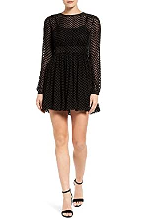 MICHAEL Michael Kors Velvet Dot Skater Dress, Size-6