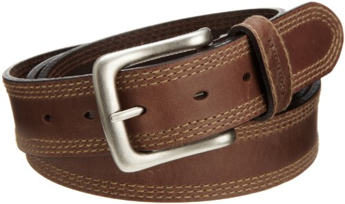 Carhartt Men's Big and Tall Signature Casual belt, Detroit Brown, 52