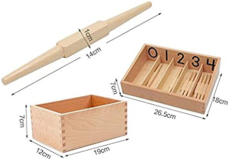 Adena Montessori Spindle Box with 45 Spindles