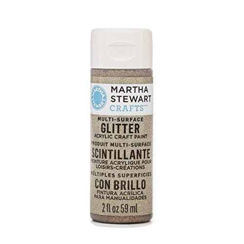 Martha Stewart Crafts Multi-Surface Glitter Acrylic Craft Paint in Assorted Colors (2-Ounce), 32175 Smoky Quartz