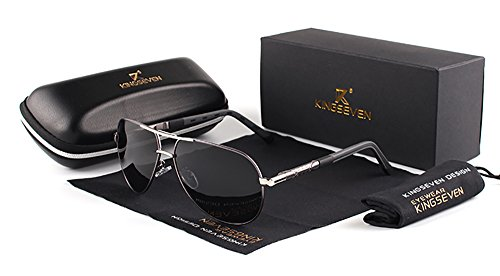 Genuine Kingseven aviator sunglasses men fashion polarized UV400 ultra light Al-Mg