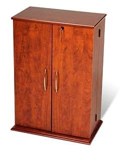 Amazon.com: Prepac Cherry U0026 Black Locking Media Storage Cabinet: Kitchen U0026  Dining