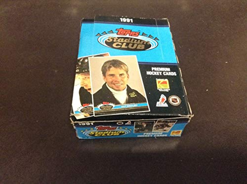 1991 Topps Stadium Club Hockey Unopend Wax Box, Ulf Dahlen Box, ZQL