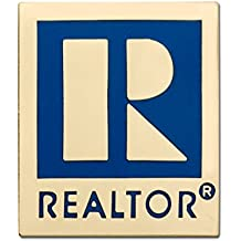 Small Professional REALTOR® R Logo Emblem Lapel Pin with Magnetic Back - Great for orientations, education classes, agent gifts or new member registrations as a welcome gift. (Gold Tone)