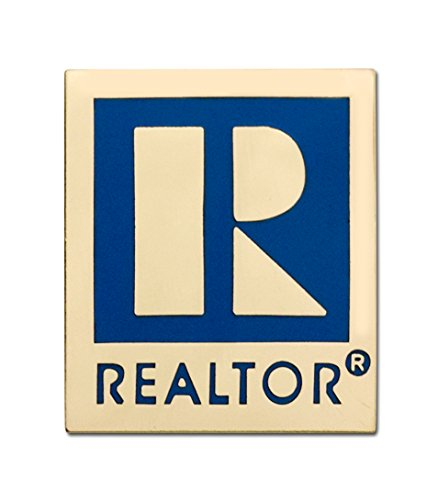 Large REALTOR Logo Branded Lapel Pin with Military Clutch Pin Back (Gold)