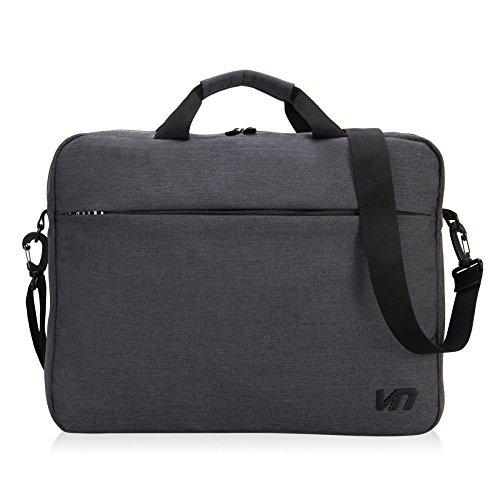 Hynes Eagle Gray Laptop Tablet Shoulder Briefcase Bag for 15-inch