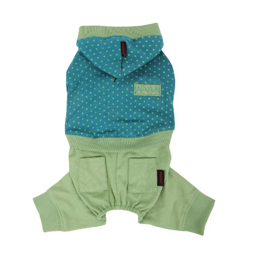 PUPPIA Authentic Crayon 1-Piece Pet Jumpsuit, Small, Green by Puppia