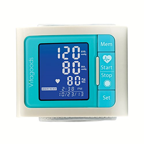 Vitagoods VGP-4300-G Wrist Blood Pressure Monitor, Gray