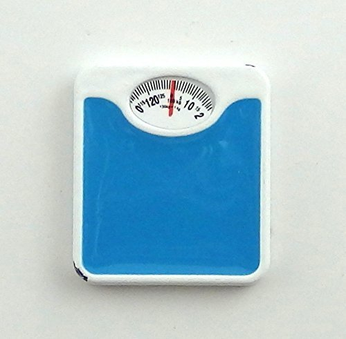 Dollhouse Miniature 1:12 Scale Blue Bathroom Scale #G7211