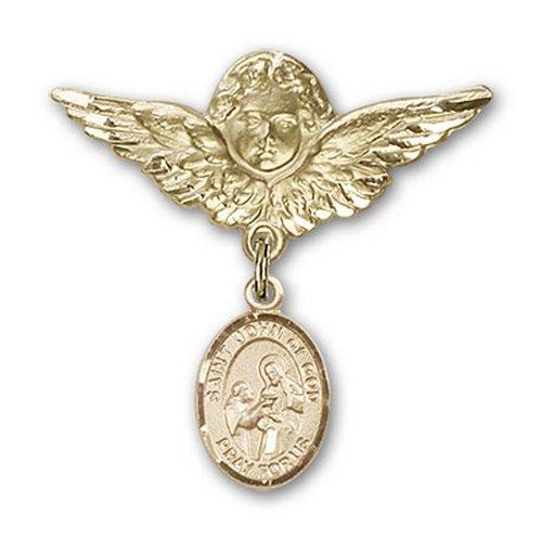 Icecarats Or Bijoux De Créateurs Rempli R. Jean De Dieu Charme Ange Broche De Badge 1 1/8 X 1 1/8
