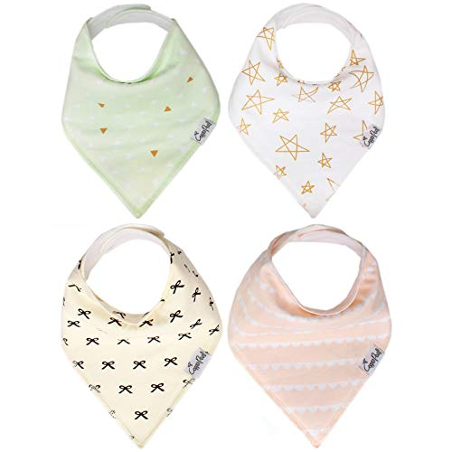 (Copper Pearl Baby Bandana Drool Bibs for Girl Paris 4 Pack of Modern Cotton Bibs Baby Gift Sets)