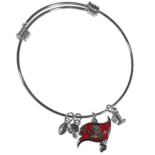 Siskiyou NFL Tampa Bay Buccaneers Charm Bangle Bracelet