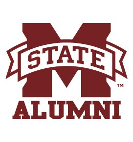 Mississippi State Bulldogs ALUMNI Clear Vinyl Decal Car Truck Sticker MSU Bulldogs ()