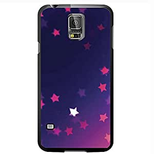 Blue and Pink Background with Pink Stars Hard Snap on Phone Case (Galaxy s5 V)