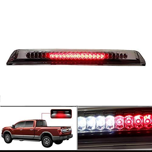 (High Mount Stop Cargo Light LED Lamp Third Brake Light Assembly Fits 2004-2015 Nissan Titan / 2005-2016 Nissan Frontier (Clear))