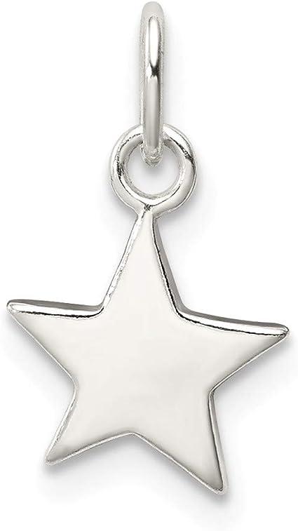 15x13MM  7x5MM Sterling Silver Star Charm 1 Pcs 62135