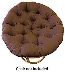 Cotton Craft Papasan Chocolate - Overstuffed Chair Cushion, Sink into our Thick Comfortable and Oversized Papasan, Pure 100% Cotton duck fabric, Fits Standard 45 inch round Chair - Chair not included