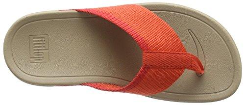 Fitflop Surfa - Sandalias Naranja (Hot Coral/Sporty Pink)