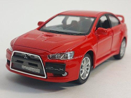 kinsmart-red-2008-mitsubishi-lancer-evo-evolution-x-1-36-scale-diecast-car