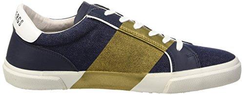 Low Uomo Band Leather Gold Blu White Er L Blue Rubb Bikkembergs Shoe 669 Denim Scarpe M Top HqFnAz