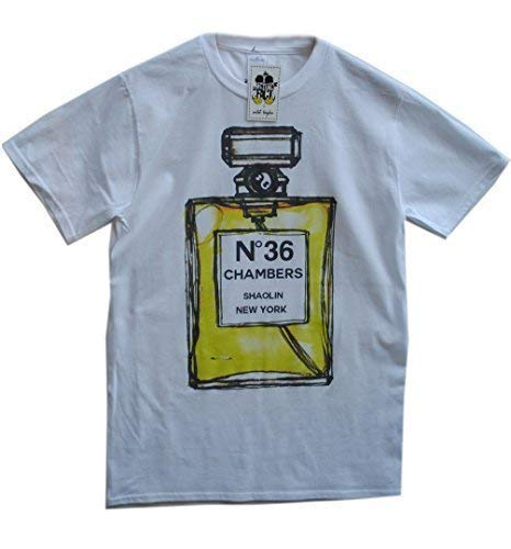 T 36 Homme Fact Bouteille Coton Actual Chambers Blanc shirt Wu Tang Clan Eqv6wnTUAx