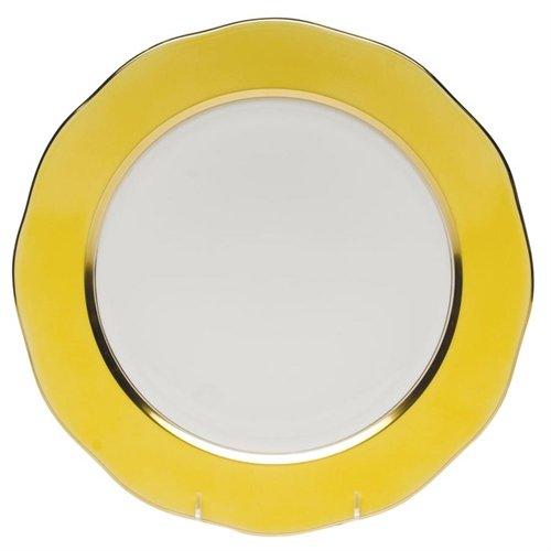 Herend China Service Plate Lemon Yellow