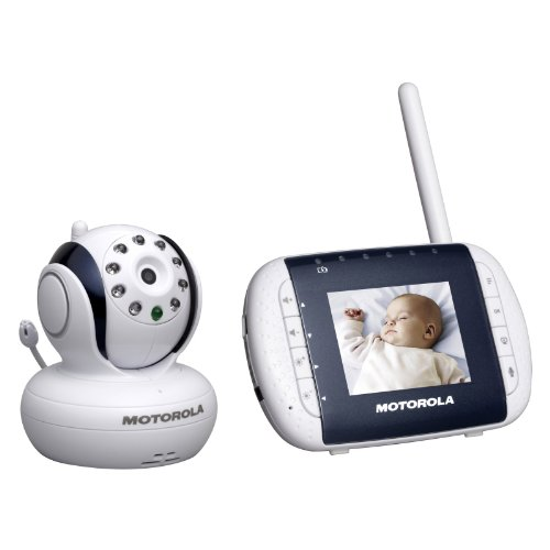 motorola mbp33 wireless video baby monitor with infrared night vision and zoom 2 8 color lcd. Black Bedroom Furniture Sets. Home Design Ideas