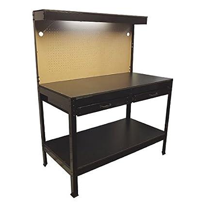 garage work station. Multipurpose Workbench Cabinet Light Garage Workstation Tool Holder Storage Work Station