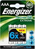 Energizer Lot de 4 piles rechargeables Extreme AAA 800 mAh