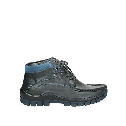 Wolky Comfort Boots 04728 Cross Winter 20280 anthrazit blau Leder