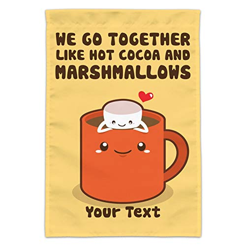GRAPHICS & MORE Personalized Custom 1 Line Hot Cocoa and Marshmallows Best Friends Garden Yard Flag (Pole Not Included)