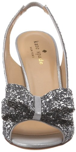 Kate Spade New York Womens Charm Slingback Pump Argento Glitter