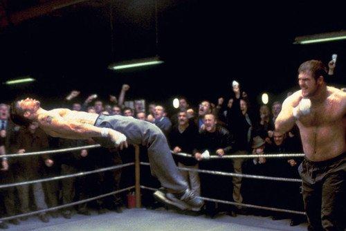 Brad Pitt in Snatch barechested in fight scene 24x36 Poster