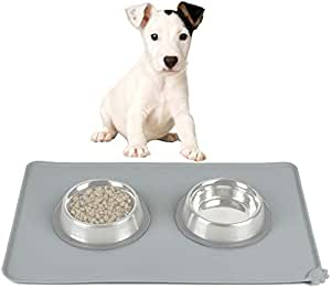 Pet-only Lovely Pretty Beautiful Fashion Comfortable Environmental-Friendly Silicone Waterproof Cats and Dogs Pet Bowl Mat, Random Color Delivery Security