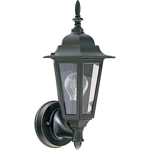 Quorum International 790-15 Wall Lanterns with Clear Shades, Black ()