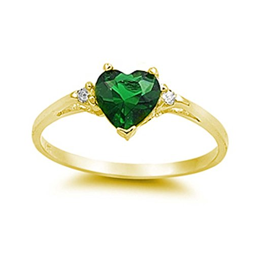 Yellow Gold Emerald Ring - 3