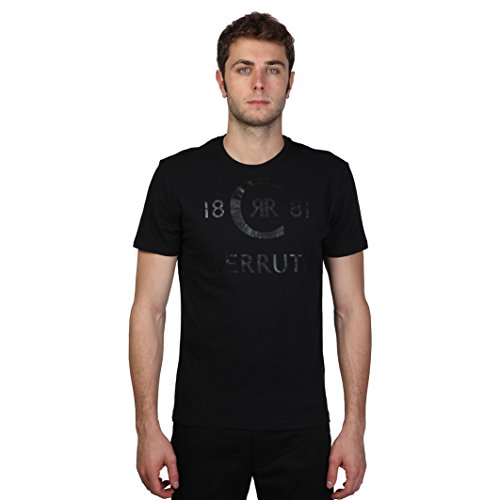 cerruti-1881-mens-short-sleeve-cotton-t-shirt-with-glossy-logo-print-design-l-black-dark-gray