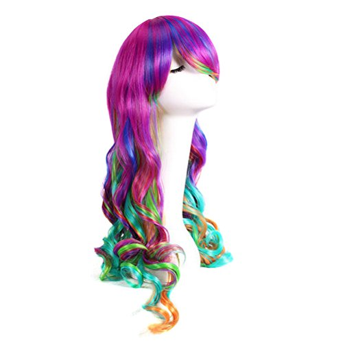 Frcolor Women's Full Wig Long Curly Hair Wigs