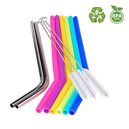 Regular Size Reusable Straws for 20oz 30oz Tumb...