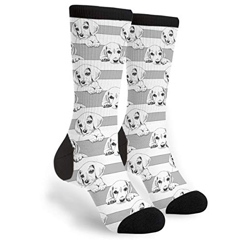 Women's Men's Fun Novelty Crazy Crew Socks Puppy Beagle for sale  Delivered anywhere in USA