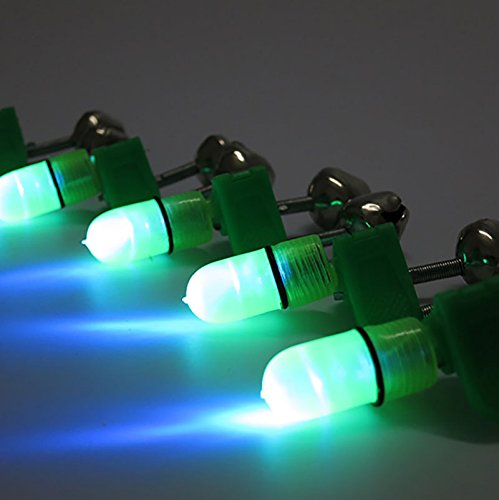 MMRM 1 x Pesca de la noche LED de los trastos de Herramienta de varilla se/ñuelo de la mordedura de alarma campanas anillo de alerta